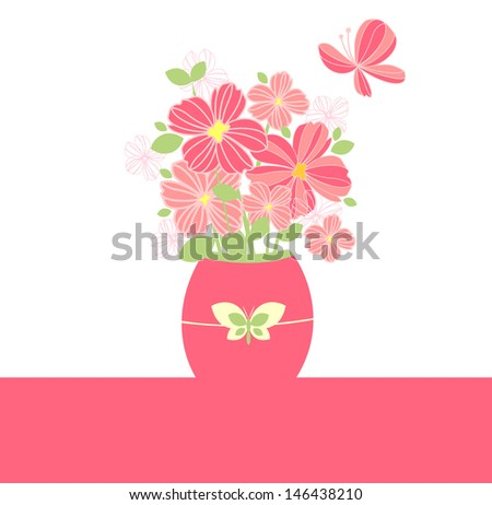 Best wishes! Raster copy of vector image - stock photo