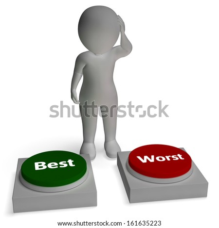 Best Worst Buttons Shows Quality Winner And Loser