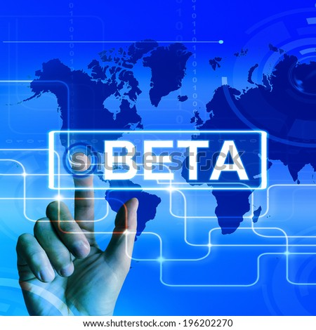 Beta Map Displaying an International Trial or Demo Version - stock photo