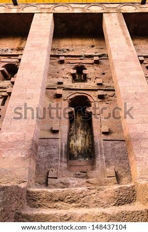 Bete Medhane Alem, Lalibela, Ethiopia - stock photo