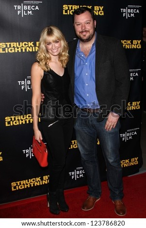"Beth Behrs and Michael Gladis at the ""Struck By Lightning"" Los Angeles Premiere, Mann Chinese 6, Hollywood, CA 01-06-12"