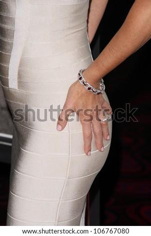 Betsy Russell's bracelet  at the Los Angeles Special Screening of 'Saw V'. Mann's Chinese Six, Hollywood, CA. 10-21-08