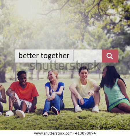 Better Together Connection Corporate Teamwork Concept - stock photo