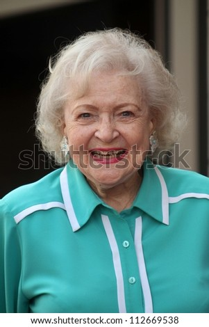 Betty White at the Valerie Bertinelli Star on the Hollywood Walk of Fame Ceremony, Hollywood, CA 08-22-12