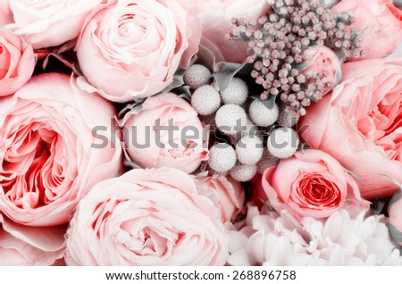 Beutiful bouquet of flowers - stock photo