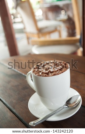Beverage at any time of the coffee shop - stock photo