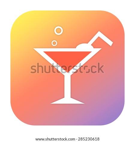 Beverage icon - stock photo