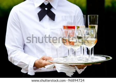 beverages being served by a waiter