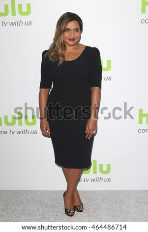 BEVERLY HILLS - AUG 5: Mindy Kaling at the HULU Summer Press Tour 2016 at the Beverly Hills Hilton Hotel on August 5, 2016 in Beverly Hills, California