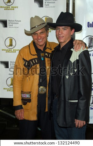 BEVERLY HILLS - August 12: Martin Kove and son Jesse at the 24th Annual Golden Boot Awards on August 12, 2006 at Beverly Hilton Hotel in Beverly Hills, CA. - stock photo