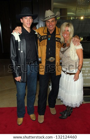 BEVERLY HILLS - August 12: Martin Kove with wife Vivienne Kove and son Jesse at the 24th Annual Golden Boot Awards on August 12, 2006 at Beverly Hilton Hotel in Beverly Hills, CA. - stock photo