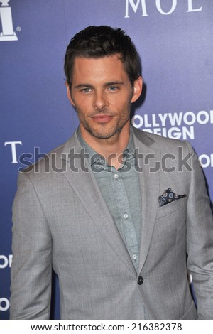 BEVERLY HILLS, CA - AUGUST 14, 2014: Actor James Marsden at the Hollywood Foreign Press Association's annual Grants Banquet at the Beverly Hilton Hotel.  - stock photo