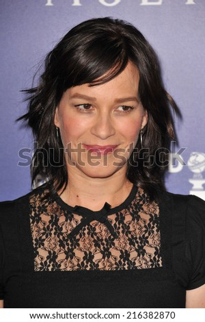 BEVERLY HILLS, CA - AUGUST 14, 2014: Actress Franka Potente at the Hollywood Foreign Press Association's annual Grants Banquet at the Beverly Hilton Hotel.  - stock photo