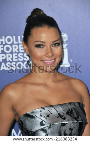 BEVERLY HILLS, CA - AUGUST 14, 2014: Actress Jessica Parker Kennedy at the Hollywood Foreign Press Association's annual Grants Banquet at the Beverly Hilton Hotel.