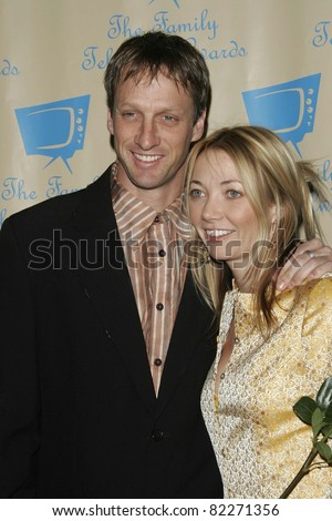 BEVERLY HILLS, CA - DEC 1: Tony Hawk; Lhotse Merriam at the 6th annual Family Television Awards at the Beverly Hilton Hotel on December 1, 2004 in Los Angeles, California