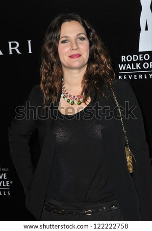 BEVERLY HILLS, CA - DECEMBER 5, 2012: Drew Barrymore at the 2012 Rodeo Drive Walk of Style Gala honoring Italian jeweler Bulgari.