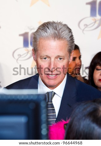 BEVERLY HILLS, CA - FEB. 26: Actor Bruce Boxleitner arrives for Norby Walters' 22nd Annual Night Of 100 Stars event held at The Beverly Hills Hotel on February 26, 2012 in Beverly Hills, California. : - stock photo