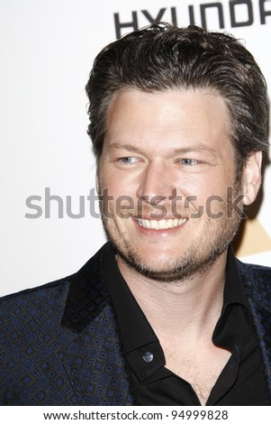 BEVERLY HILLS, CA - FEB 11: Blake Shelton at the Clive Davis and the Recording Academy's 2012 Pre-GRAMMY Gala on February 11, 2012 in Beverly Hills, California