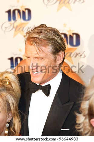 BEVERLY HILLS, CA - FEBRUARY 26: Actor Dolph Lundgren arrives for the  22nd Annual Night Of 100 Stars event held at The Beverly Hills Hotel on February 26, 2012 in Beverly Hills, California. - stock photo