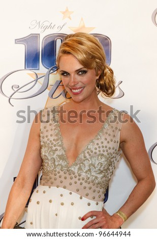 BEVERLY HILLS, CA - FEBRUARY 26: Actress Kelly Sullivan arrives for the 22nd Annual Night Of 100 Stars event held at The Beverly Hills Hotel on February 26, 2012 in Beverly Hills, California - stock photo