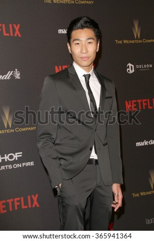 BEVERLY HILLS, CA - JAN. 10: Chris Pang arrives at the Weinstein Company and Netflix 2016 Golden Globes After Party on Sunday, January 10, 2016 at the Beverly Hilton Hotel in Beverly Hills, CA.  - stock photo
