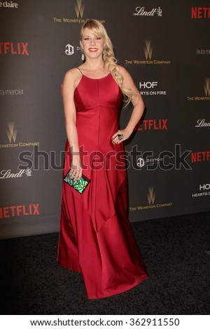 BEVERLY HILLS, CA - JAN. 10: Jodie Sweetin arrives at the Weinstein Company and Netflix 2016 Golden Globes After Party on Sunday, January 10, 2016 at the Beverly Hilton Hotel in Beverly Hills, CA.  - stock photo