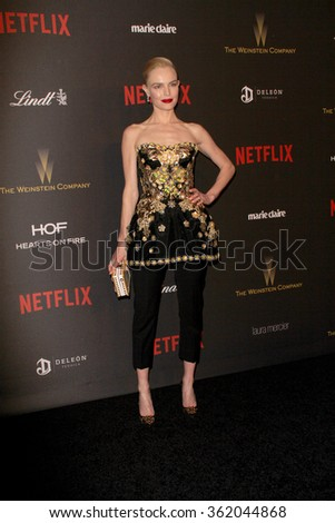 BEVERLY HILLS, CA - JAN. 10: Kate Bosworth arrives at the Weinstein Company and Netflix 2016 Golden Globes After Party on Sunday, January 10, 2016 at the Beverly Hilton Hotel in Beverly Hills, CA.