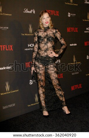 BEVERLY HILLS, CA - JAN. 10: Masha Rudenko arrives at the Weinstein Company and Netflix 2016 Golden Globes After Party on Sunday, January 10, 2016 at the Beverly Hilton Hotel in Beverly Hills, CA.  - stock photo