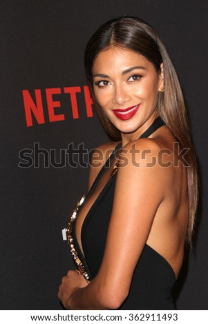 BEVERLY HILLS, CA - JAN. 10: Nicole Scherzinger arrives at the Weinstein Company and Netflix 2016 Golden Globes After Party, Jan. 10, 2016 at the Beverly Hilton Hotel in Beverly Hills, CA.