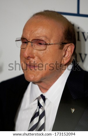 BEVERLY HILLS, CA. - JANUARY 25: Clive Davis arrives at the Clive Davis and The Recording Academy annual Pre-GRAMMY Gala on January 25th 2014 at the Beverly Hilton in Beverly Hills, California. - stock photo