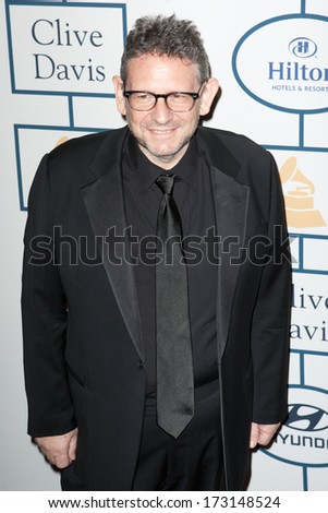BEVERLY HILLS, CA. - JANUARY 25: Lucian Grainge arrives at the Clive Davis and The Recording Academy annual Pre-GRAMMY Gala on January 25th 2014 at the Beverly Hilton in Beverly Hills, California. - stock photo
