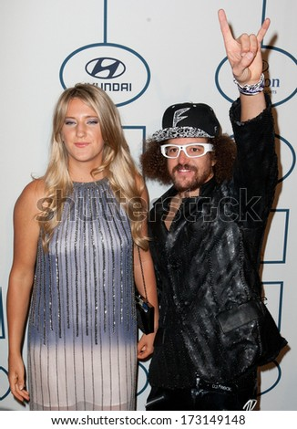 BEVERLY HILLS, CA. - JANUARY 25: Victoria Azarenka & Red Foo arrive at the Clive Davis & The Recording Academy annual Pre-GRAMMY Gala on January 25th 2014 at the Beverly Hilton in Beverly Hills. - stock photo
