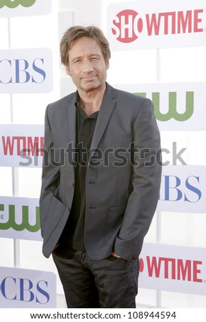 BEVERLY HILLS, CA - JULY 29: David Duchovny arrives to the Beverly Hilton for the TCA Awards on July 29, 2012 in Beverly Hills, CA. - stock photo