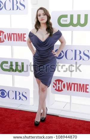 BEVERLY HILLS, CA - JULY 29: Kat Dennings arrives to the Beverly Hilton for the TCA Awards on July 29, 2012 in Beverly Hills, CA. - stock photo