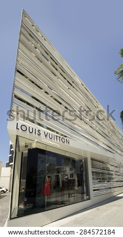 Beverly Hills,CA June 2nd 2015 Louis Vuitton's new flagship Store at the corner of Rodeo Drive and Dayton Way in Beverly Hills designed by Peter Marino.