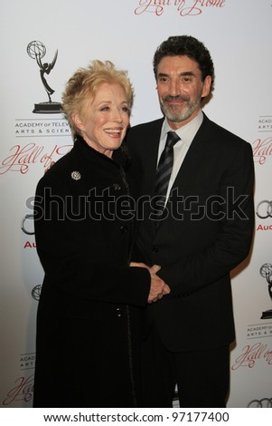 BEVERLY HILLS, CA - MAR 1: Holland Taylor, Chuck Lorre at the Academy of Television Arts & Sciences 21st Annual Hall of Fame Ceremony at the Beverly Hills Hotel on March 1, 2012 in Beverly Hills, CA