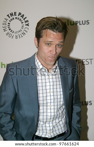 "BEVERLY HILLS, CA - MARCH 9: Seamus Dever arrives at the 2012 Paleyfest ""Castle"" panel on March 9, 2012 at the Saban Theater in Beverly Hills, CA."