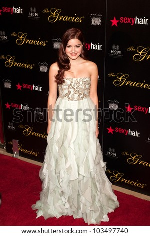 BEVERLY HILLS, CA - MAY 21: Ariel Winter arrives at the 2012 Gracie Awards Gala on May 21st 2012 at the Beverly Hills Hilton in Beverly Hills.