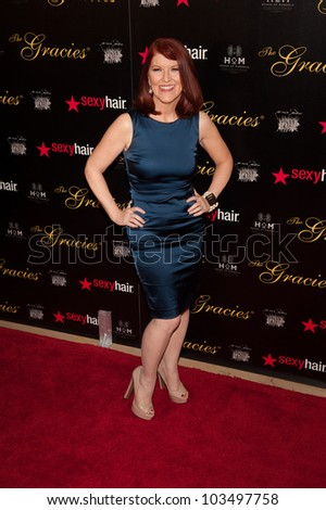 BEVERLY HILLS, CA - MAY 21: Kate Flannery arrives at the 2012 Gracie Awards Gala on May 21st 2012 at the Beverly Hills Hilton in Beverly Hills. - stock photo