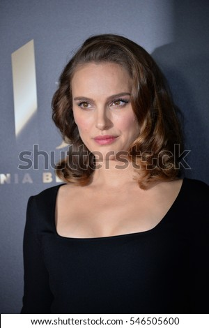 BEVERLY HILLS, CA. November 6, 2016: Actress Natalie Portman at the 2016 Hollywood Film Awards at the Beverly Hilton Hotel.