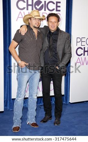 BEVERLY HILLS, CA - NOVEMBER 15, 2012: Jason Aldean and Mark Burnett at the People's Choice Awards 2013 Nominations held at the Paley Center in Beverly Hills, USA on November 15, 2012. - stock photo