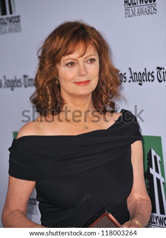 BEVERLY HILLS, CA - OCTOBER 22, 2012: Susan Sarandon at the 16th Annual Hollywood Film Awards at the Beverly Hilton Hotel.