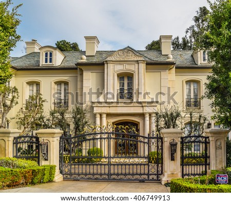 beverly hills houses beverly house stock images royalty free images 11385