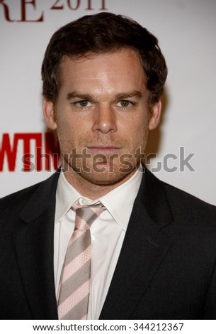 BEVERLY HILLS, CALIFORNIA - April 15, 2011. Michael C. Hall at the Taste For A Cure 2011 held at the Beverly Wilshire Hotel in Los Angeles.