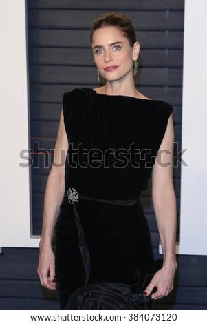BEVERLY HILLS - FEB 28: Amanda Peet at the 2016 Vanity Fair Oscar Party on February 28, 2016 in Beverly Hills, California - stock photo