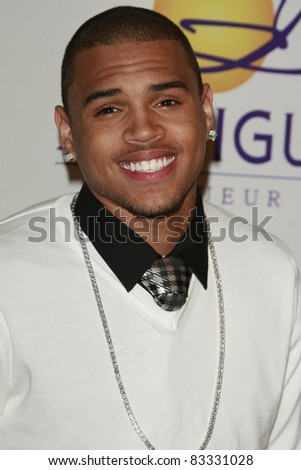 BEVERLY HILLS - FEB 9: Chris Brown at the Clive Davis Pre-GRAMMY Party 2008 held at the Beverly Hilton Hotel in Beverly Hills, California on February 9, 2008 - stock photo