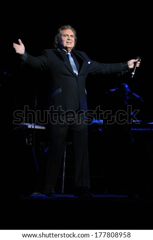 BEVERLY HILLS - FEB 16: Engelbert Humperdinck performs in concert at the Saban Theater on February 16, 2014 in Beverly Hills, California