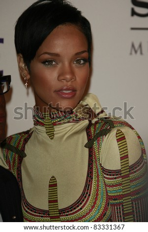 BEVERLY HILLS - FEB 9: Rihanna at the Clive Davis Pre-GRAMMY Party 2008 held at the Beverly Hilton Hotel in Beverly Hills, California on February 9, 2008 - stock photo