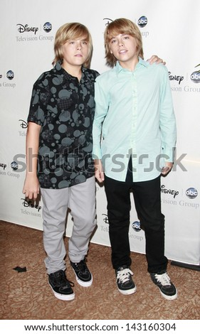 BEVERLY HILLS - JUL 12: Twon July 12, 2008 ins Dylan Sprouse and Cole Sprouse at the Disney ABC Television Group Summer All Star party on July 12, 2008 in Beverly Hills, California. - stock photo
