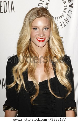 BEVERLY HILLS - MAR 16: Heather Morris arrives at the 2011 PaleyFest honoring 'Glee' held at the Saban Theater in Beverly Hills on March 16, 2010. - stock photo